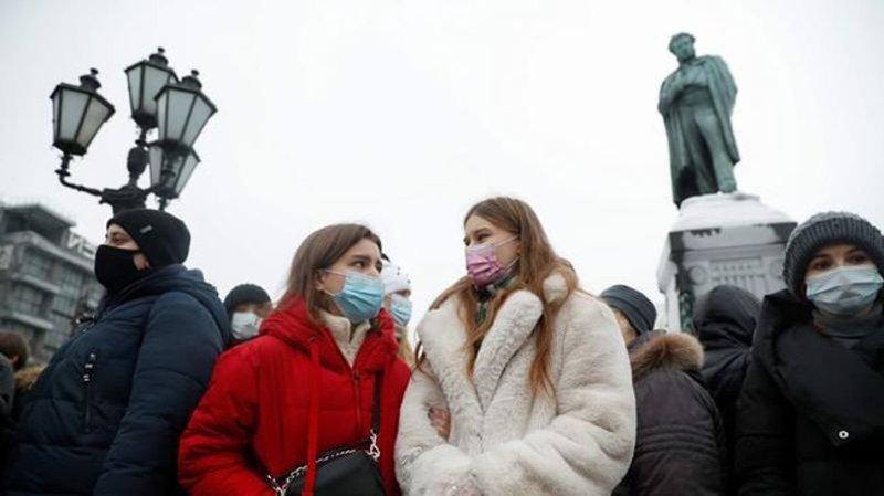 Россия арестовала 350 демонстрантов, требующих освобождения Навального |  Нанаймо