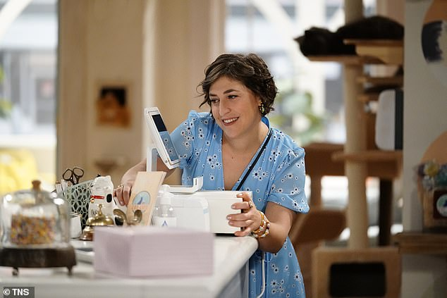 New role: In Call Me Kat, Bialik plays a 39-year-old single woman who left her job to open a cat cafe