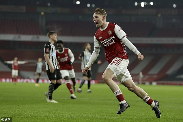 The youngster went on to win the match against Arsenal in the third round of the FA Cup in overtime