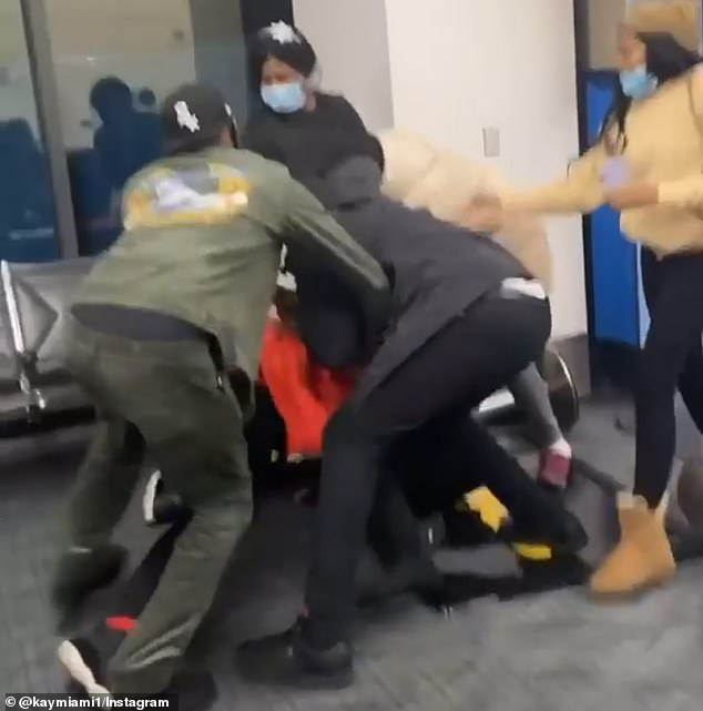 All the horrific brawl was captured by camera and then posted on Instagram
