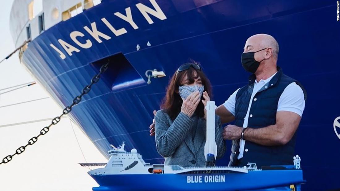 Jeff Bezos just named a huge rocket rescue ship after his mother