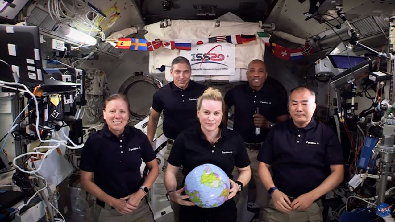 NASA's International Space Station crew flies into space for the New Year – with the tilt of zero gravity