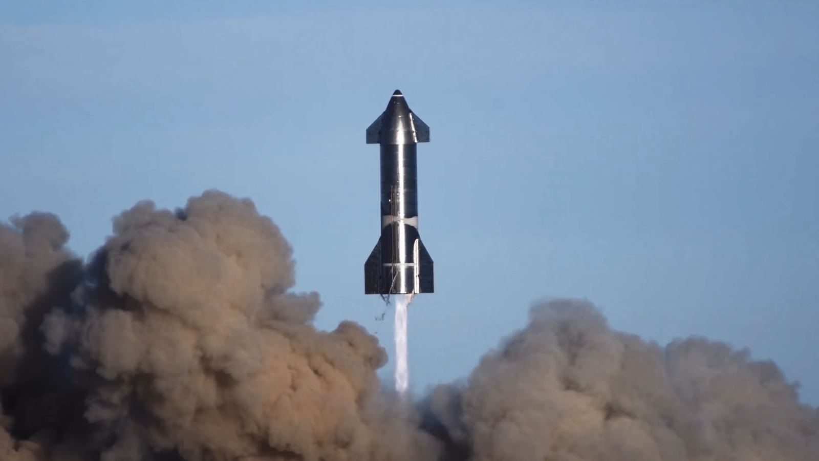 SpaceX releases a brief video of the SN8 in a jump test!