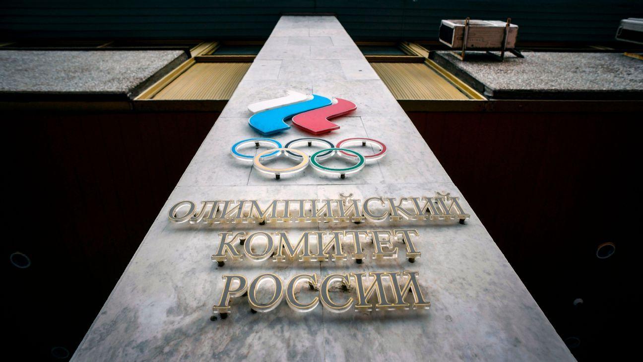 Название новой сборной России – ОКР, а флаг соответствует Вторым Олимпийским играм.