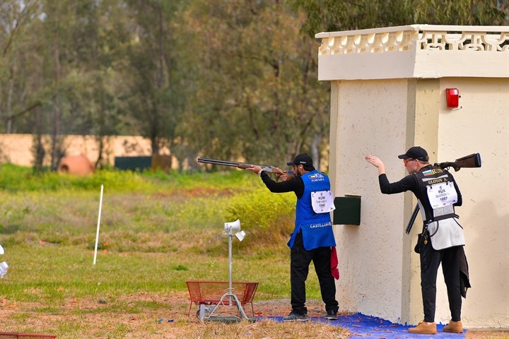 В третий день соревнований в Рабате прошли квалификационные соревнования смешанных команд по тарелочкам. © ISSF