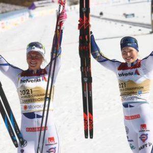Скандинавское катание: Норвегия и Швеция выиграли золото в захватывающих командных спринтах |  Спортивный
