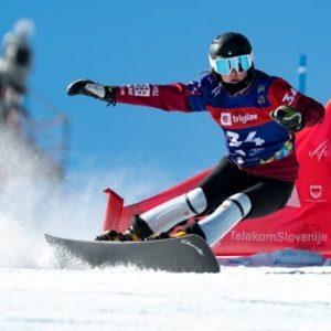Канадка Меган Фаррелл едва поднялась на подиум в лыжных мирах Словении