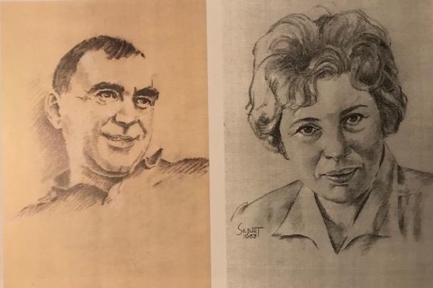 Джош и Пит Силберт.  Нарисовано художником.  1963. С разрешения