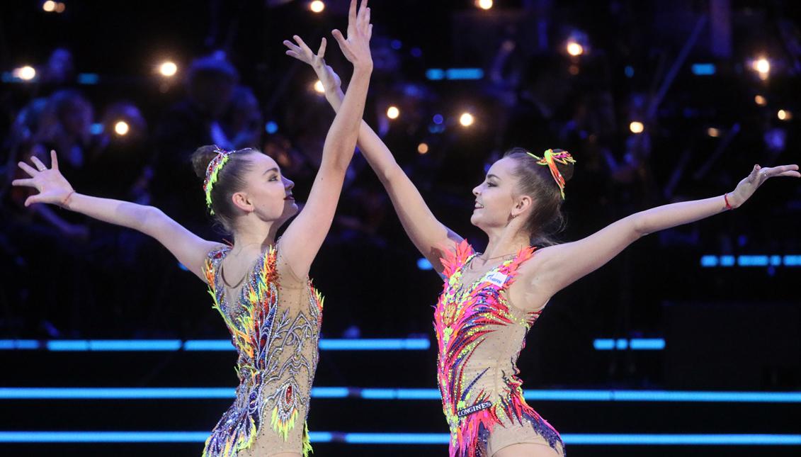 Русские близнецы, которые доминируют в художественной гимнастике