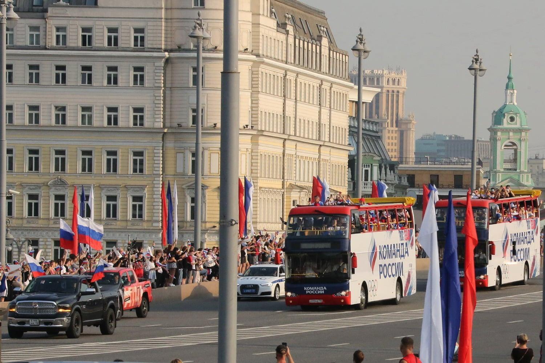Олимпийская сборная ОКР снова приехала в Москву на празднование Красной площади